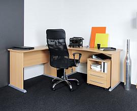 Pisalna miza Bonn 01 s predalnikom Barva bukev
