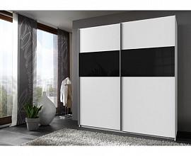 Omara Vegas 2 vrata 180 cm, Barva bela, črna
