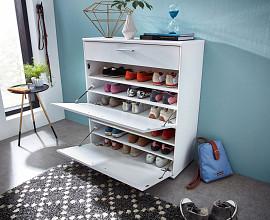 Omarica za čevlje Bonn 02 Barva bela visoki sijaj