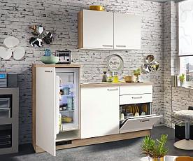 Kuhinjski blok Boston 2, leseni del 180,6 cm + bela tehnika