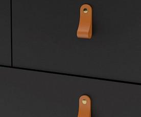 Predalnik Amalfi 04 Barva črna