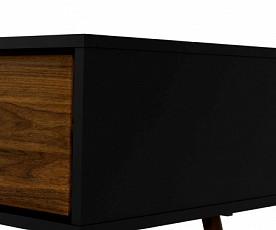 Klubska miza Cordoba Barva Oreh,črna