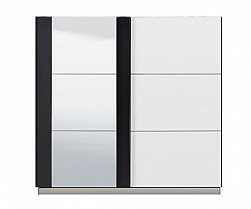 Omara Evora Barva bela, črna, ogledalo