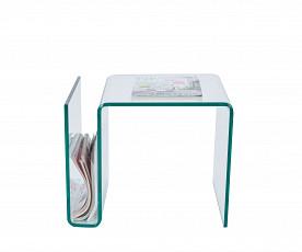 Klubska miza Glass 05 prozorna