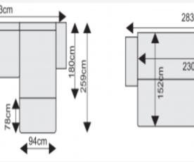 Sedežna garnitura Lazio Barva Rjava, leva ali desna postavitev