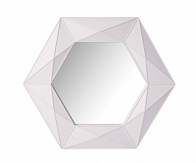 Ogledalo Linda 54.5x54.5 Barva Bela