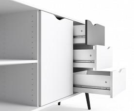 Predalnik Malmo 2, Barva bela , črna