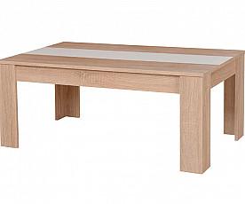 Klubska miza Monika hrast, bela