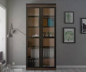 Vitrina Pisa 03, Barva črna, oreh