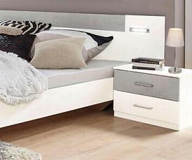 Komplet spalnica Porto 160x200, Barva bela, siva klasik