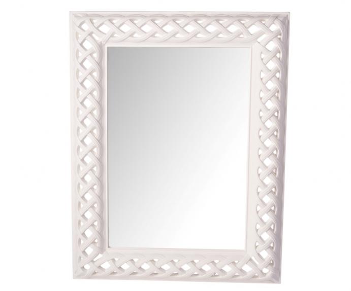 Ogledalo Gela 78x106 cm Barva bela
